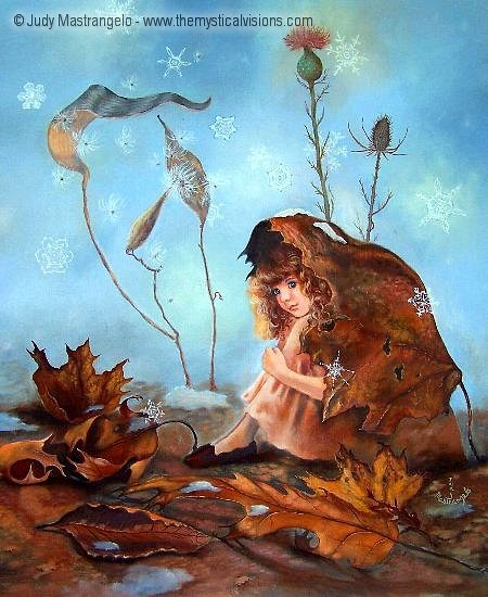 Thumbelina Wrapped in Leaves-
