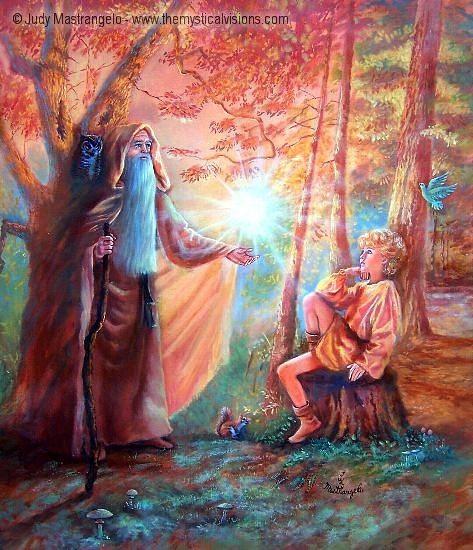 Merlin and the Boy Arthur-