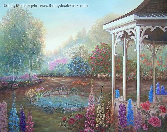 Gazebo with Fox Gloves
