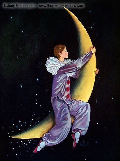 Pierrot Riding on the Moon