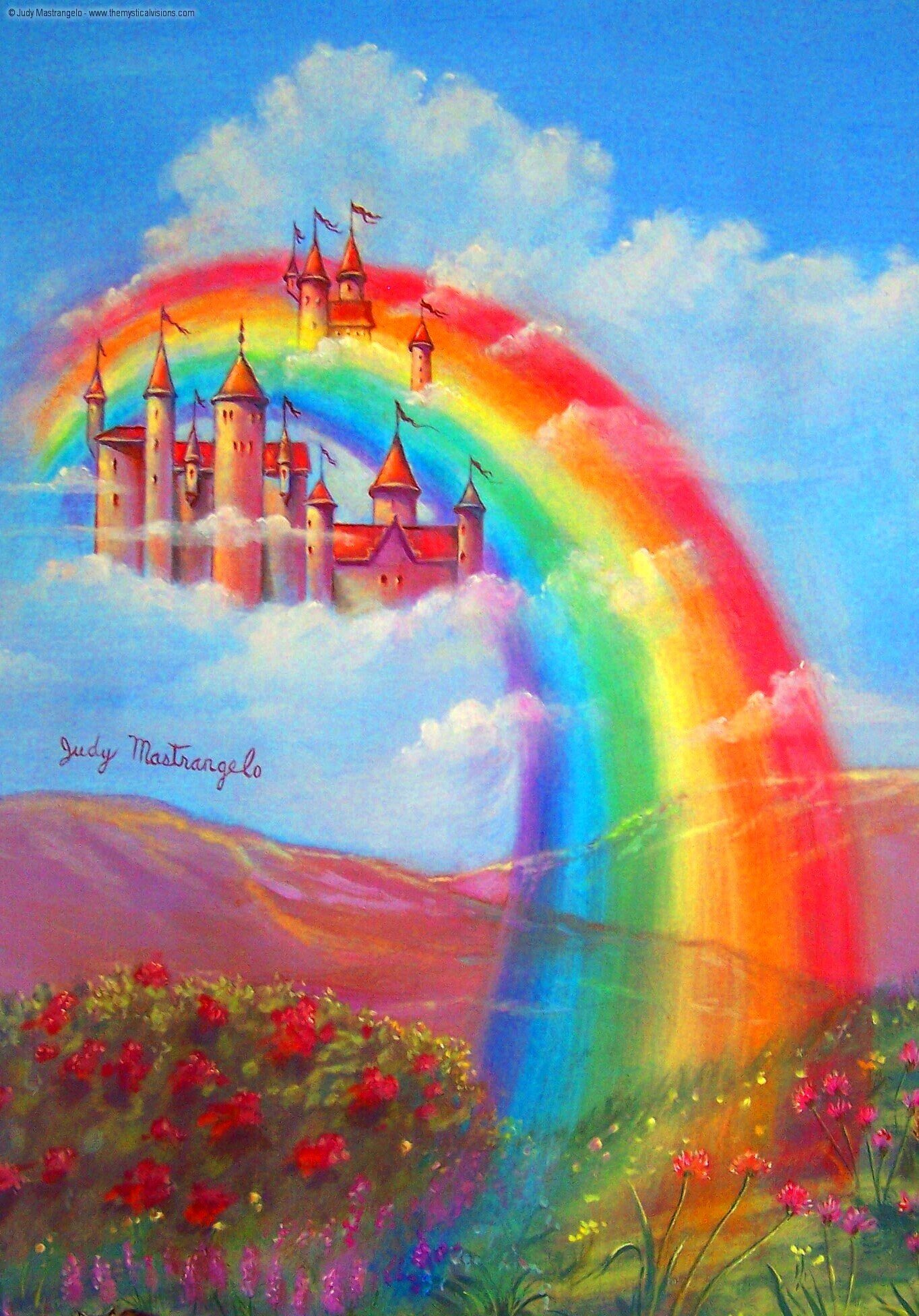 Rainbow Cloud Castle-