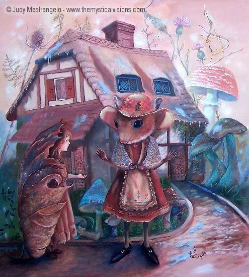 Thumbelia and Mrs. Mouse-