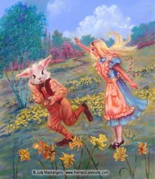 Alice and the White Rabbit-