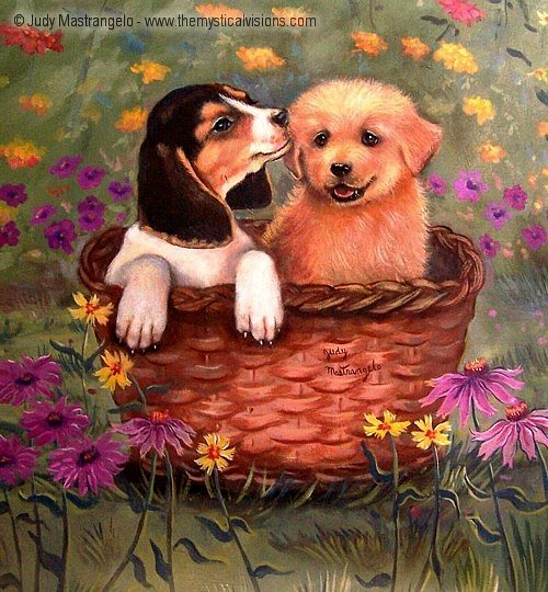 Beagle And Golden Retriever