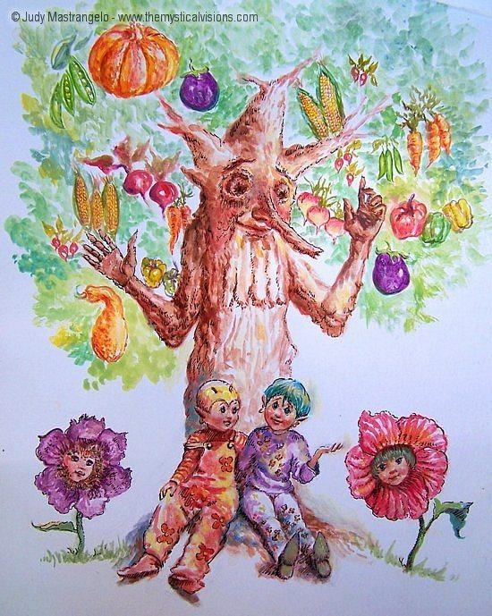 Elves Under a Tree-