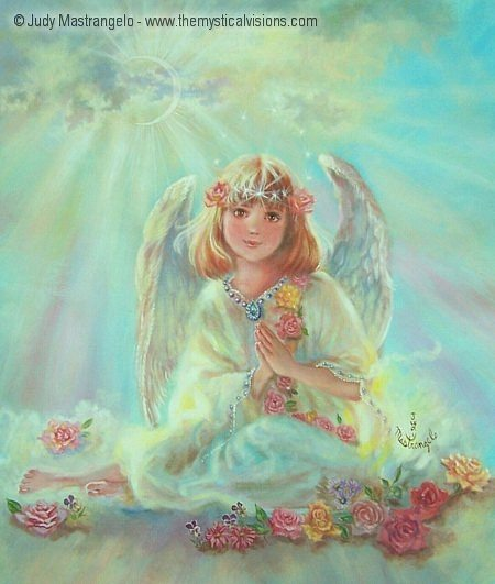 Girl Angel On Cloud-