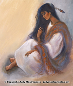 INDIAN MAIDEN SITTING