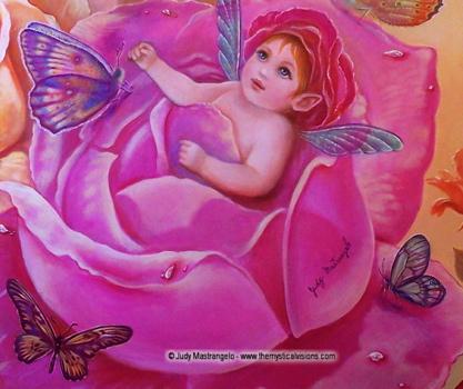 My Little Rosebud - Baby Fairy Detail