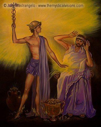 King Midas And The Stranger-