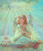 Girl Angel On Cloud-