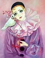 Pierrot with White Dove